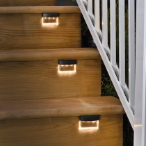 Square Black Acrylic Outdoor Stair Light