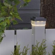 Classic Solar Plastic Post Light 12 Lumens