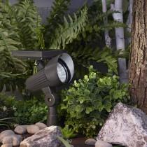Solar Ribbed Plastic Spotlight 100 Lumens