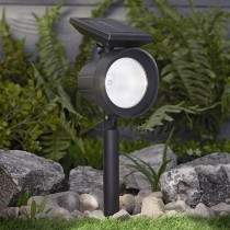 Solar Grooved Plastic Spotlight 50 Lumens