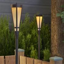 Solar Flickering LED Torch Light Brown Finish