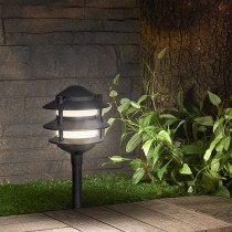 Tiered Lantern Aluminum LED Path Light