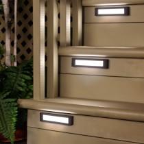 Rectangular Aluminum Edge-Lit LED Stair Light