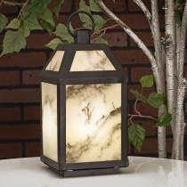 Marble Effect LED Lantern