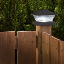 Black Color-Changing Solar Plastic Post Light
