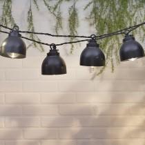 10-Count Black Pendant White LED String Lights
