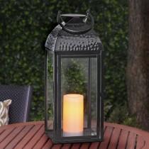 Embossed Metal LED Lantern