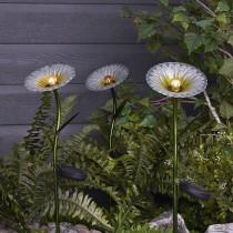 Glass Flower Solar Stick Light