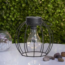 Solar Lantern with Exposed Bulb and Fairy Lights