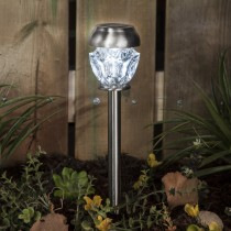 Stainless Steel Faceted Solar Path Light 2 Lumens