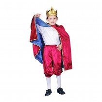 Deluxe Royal King Dress Up Costume - Maroon - X-Large 16-18