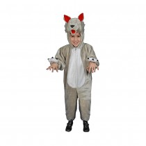 Kids Plush Wolf Costume