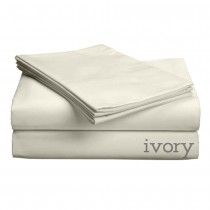 "Luxe Collection 618ct Combed Cotton Sateen Weave Deep Profile Up to 18"" Pocket Sheet Sets King Ivory"