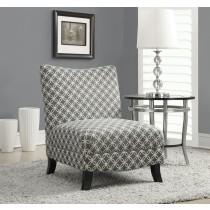 "Monarch Accent Chair - Grey "" Circular "" Fabric"