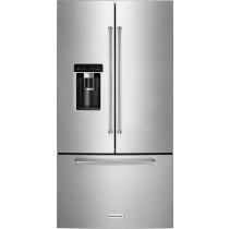 KitchenAid 23.8 Cu. Ft. French Door Counter-Depth Refrigerator Stainless Steel (w/Kit)