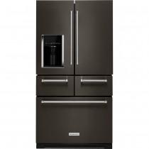 KitchenAid 25.8 Cu. Ft. 5-Door French Door Refrigerator Black Stainless Steel (w/Kit)