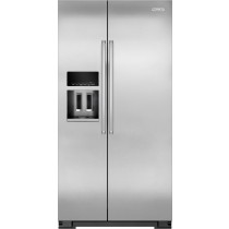 KitchenAid 22.7 Cu. Ft. Side-by-Side Counter-Depth Refrigerator Monochromatic Stainless-Steel (w/Kit)