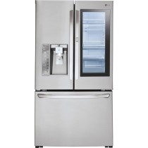 LG 23.5 Cu. Ft. French InstaView Door-in-Door Counter-Depth Smart Wi-Fi Enabled Refrigerator Stainless Steel (w/Kit)