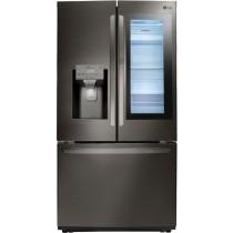 LG 26 Cu. Ft. French Door-in-Door Refrigerator PrintProof Black Stainless Steel (w/Kit)