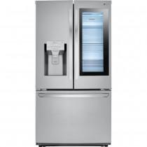LG 26 Cu. Ft. French InstaView Door-in-Door Smart Wi-Fi Enabled Refrigerator PrintProof Stainless Steel (w/Kit)