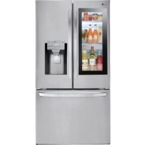 LG 27.5 Cu. Ft. French InstaView Door-in-Door Smart Wi-Fi Enabled Refrigerator PrintProof Stainless Steel (w/Kit)