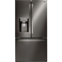 LG InstaView 28.0 Cu. Ft. French Door-in-Door Refrigerator PrintProof Black Stainless Steel (w/Kit)