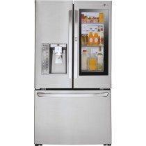 LG 29.6 Cu. Ft. French InstaView Door-in-Door Smart Wi-Fi Enabled Refrigerator Stainless Steel (w/Kit)