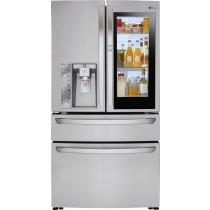 LG 22.5 Cu. Ft. French InstaView Door-in-Door Counter-Depth Smart Wi-Fi Refrigerator Stainless Steel (w/Kit)