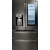 LG InstaView Door-in-Door 27.8 Cu. Ft. 4-Door French Door Refrigerator PrintProof Black Stainless Steel (w/Kit)