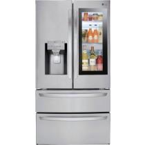 LG InstaView Door-in-Door 27.8 Cu. Ft. 4-Door French Door Refrigerator PrintProof Stainless Steel (w/Kit)
