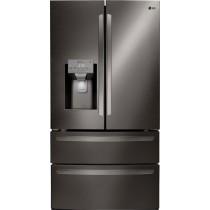 LG 27.8 4-Door French Door Smart Wi-Fi Enabled Refrigerator PrintProof Black Stainless Steel (w/Kit)