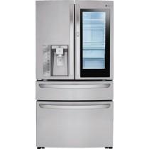 LG 29.7 Cu. Ft. 4-Door French InstaView Door-in-Door Smart Wi-Fi Enabled Refrigerator Stainless Steel (w/Kit)