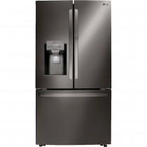 LG 29.7 Cu. Ft. French Door-in-Door Refrigerator PrintProof Black Stainless Steel (w/Kit)