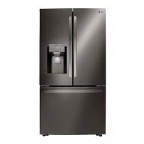 LG 23.5 Cu. Ft. French Door Counter-Depth Refrigerator PrintProof Black Stainless Steel (w/Kit)
