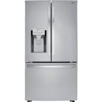 LG 23.5 Cu. Ft. French Door Counter-Depth Refrigerator PrintProof Stainless Steel (w/Kit)