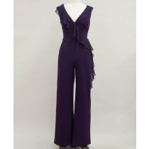 Asymetrical Cascading Ruffle Jumpsuit