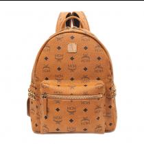 MCM Stark Small Side Stud Backpack Cognac