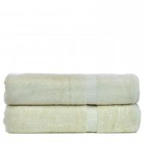 Bare Cotton Luxury Hotel & Spa Towel 100% Genuine Turkish Cotton Bath Sheets - Beige - Dobby Border  - Set of 2