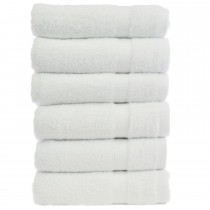 Bare Cotton Luxury Hotel & Spa Towel 100% Genuine Turkish Cotton Hand Towels - White - Bamboo  - Set of 6