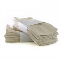 Bare Cotton Eco Cotton Washcloths - Beige - Cam Border  - Set of 24