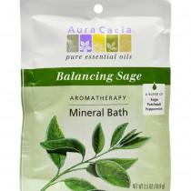 Aura Cacia - Balancing Sage Mineral Bath (Pack of 12 - 2.5 OZ)