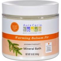 Aura Cacia - Balsam Fir  Aromatherapy Mineral Bath Warming (Pack of 2 - 16 OZ)