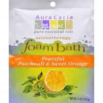 Aura Cacia - Peaceful Patchouli And Sweet Orange Foam Bath (Pack of 6 - 2.5 OZ)