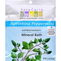 Aura Cacia - Peppermint Harvest Mineral Bath (Pack of 6 - 2.5 OZ)
