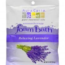 Aura Cacia - Relaxing Lavender Foam Bath (Pack of 6 - 2.5 OZ)