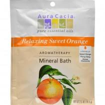 Aura Cacia - Relaxing Sweet Orange Mineral Bath (Pack of 12 - 2.5 OZ)