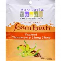 Aura Cacia - Sensual Cinnamon And Ylang Ylang Foam Bath (Pack of 6 - 2.5 OZ)