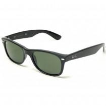 Ray-Ban New Wayfarer Classic Black, Green Classic Lenses, RB2132 Standard 52mm