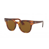 Ray-Ban Meteor Classic Sunglasses - Striped Havana Fram with Brown Lenses