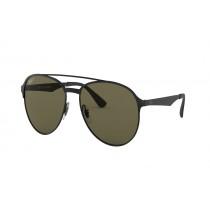 Ray-Ban Double-Bridge Polarized Sunglasses - Black with Green Lenses